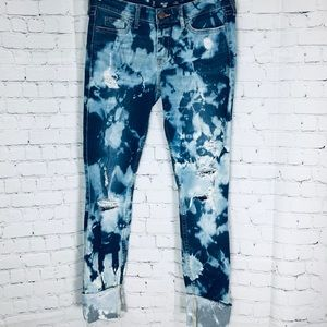 📝 Bleach Tie Dyed Hollister Skinny Jeans